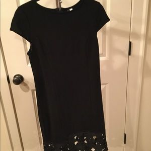 Little Black Dress with Cutout Trim